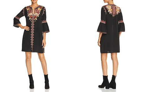 Johnny Was Collection Artemis Floral-Embroidered Silk Dress - Bloomingdale's_2