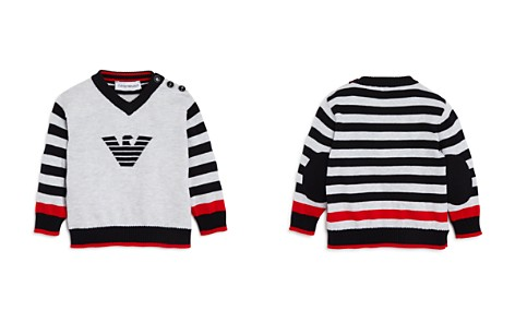 Armani Junior Boys' Striped Logo Sweater - Baby - Bloomingdale's_2