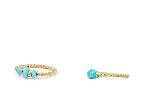 David Yurman Rio Rondelle Ring with Turquoise & 18K Gold - Bloomingdale's_2
