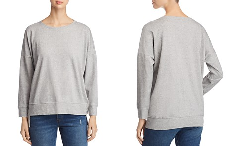 Eileen Fisher Speckled Knit Step Hem Sweatshirt - Bloomingdale's_2