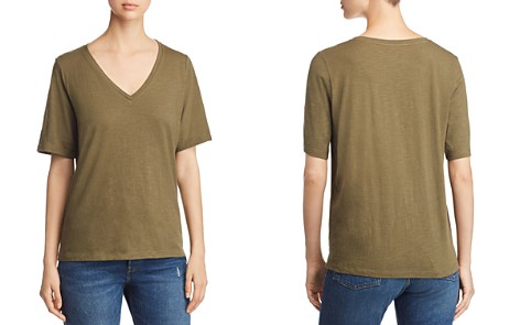 Eileen Fisher Organic Cotton Slub Knit V-Neck Tee - Bloomingdale's_2