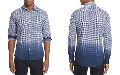 Michael Kors Slim Fit Dip-Dye Gingham Button-Down Shirt - Bloomingdale's_2