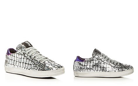 P448 Women's A8 John Croc Print Leather Lace Up Sneakers - Bloomingdale's_2