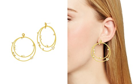 Freida Rothman Radiance Studded Double Loop Drop Earrings - Bloomingdale's_2