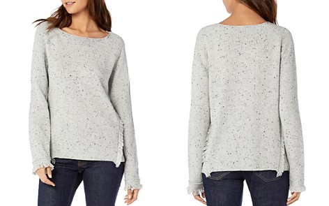 Michael Stars Speckled Fringe-Trim Sweater - Bloomingdale's_2