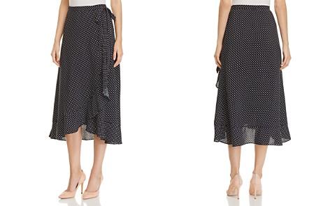 Three Dots Polka-Dot Midi Wrap Skirt - Bloomingdale's_2