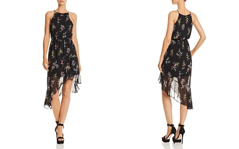AQUA Floral Print Asymmetric Dress - 100% Exclusive - Bloomingdale's_2