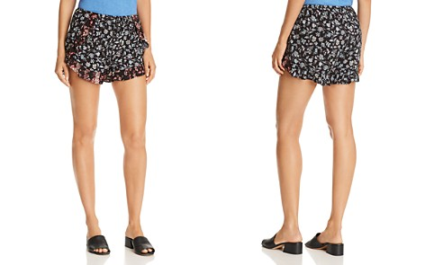 AQUA Ruffle-Trim Floral-Print Shorts - 100% Exclusive - Bloomingdale's_2