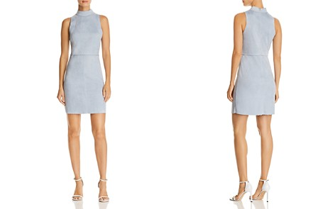 AQUA Scalloped Faux Suede Sheath Dress - 100% Exclusive - Bloomingdale's_2