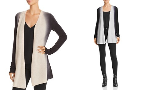 C by Bloomingdale's Dip-Dye Lightweight Cashmere Cardigan - 100% Exclusive _2