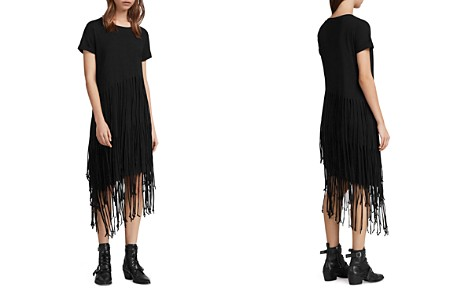ALLSAINTS Tami Tiered Fringed T-Shirt Dress - Bloomingdale's_2