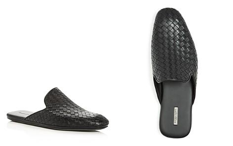 Bottega Veneta Men's Woven Leather Smoking Slippers - Bloomingdale's_2