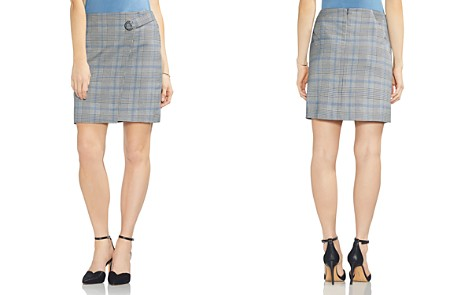 VINCE CAMUTO Plaid Faux-Wrap Skirt - Bloomingdale's_2