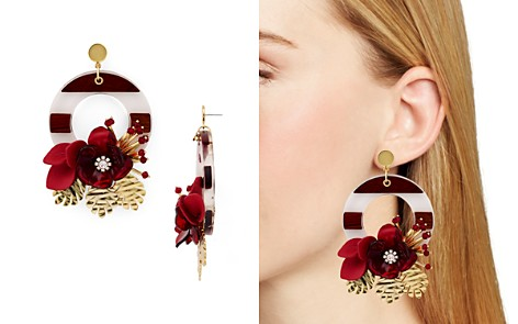 kate spade new york Statement Door Knocker Flower Drop Earrings - Bloomingdale's_2