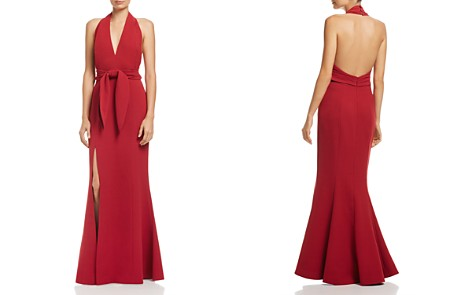 C/MEO Collective Plunging Halter Gown - 100% Exclusive - Bloomingdale's_2