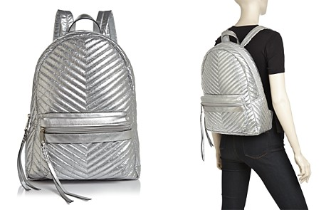 Rebecca Minkoff Pippa Large Metallic Nylon Backpack - Bloomingdale's_2