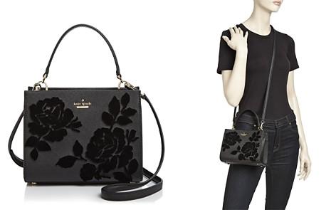 kate spade new york Cameron Street Sarah Velvet Roses Small Leather Crossbody - 100% Exclusive - Bloomingdale's_2