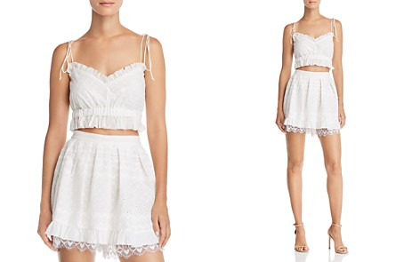 For Love & Lemons Charlotte Eyelet Crop Top - Bloomingdale's_2