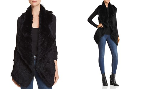 C by Bloomingdale's Rabbit Fur & Cashmere Vest - 100% Exclusive _2