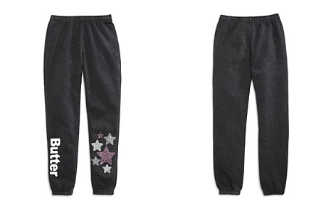 Butter Girls' Embellished Varsity Fleece Jogger Pants, Little Kid, Big Kid - 100% Exclusive - Bloomingdale's_2