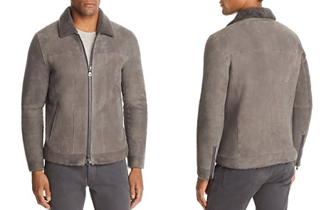 John Varvatos Collection Shearling-Trimmed Suede Jacket - Bloomingdale's_2