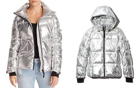 AQUA Metallic Hooded Puffer Jacket - 100% Exclusive - Bloomingdale's_2