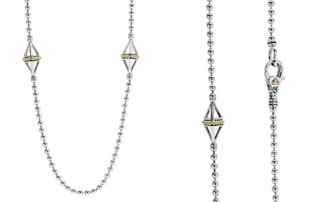 "LAGOS 18K Gold & Sterling Silver KSL Pyramid Station Necklace, 32"" - Bloomingdale's_2"