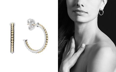 LAGOS 18K Yellow Gold & Sterling Silver KSL Caviar Bead Hoop Earrings - Bloomingdale's_2