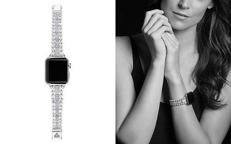 LAGOS Sterling Silver Smart Caviar Diamond Apple™ Smartwatch Strap - 100% Exclusive - Bloomingdale's_2