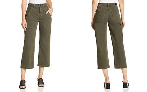 Hudson Wide Leg Crop Cargo Jeans in Military Green 2 - Bloomingdale's_2