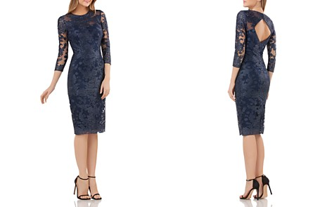 JS Collections Embroidered Lace Dress - Bloomingdale's_2