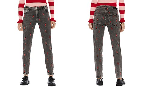 Scotch & Soda Petit Ami Embroidered Slim Boyfriend Jeans in Love is All You Need - Bloomingdale's_2
