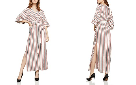 BCBGMAXAZRIA Striped Crossover Maxi Dress - Bloomingdale's_2