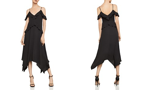 BCBGMAXAZRIA Lissa Handkerchief-Hem Slip Dress - Bloomingdale's_2