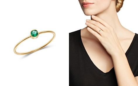 Zoë Chicco 14K Yellow Gold Emerald Bezel-Set Ring - Bloomingdale's_2