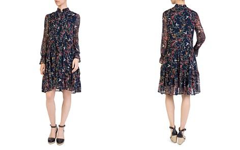 The Kooples Avian & Floral Print Silk Shift Dress - Bloomingdale's_2