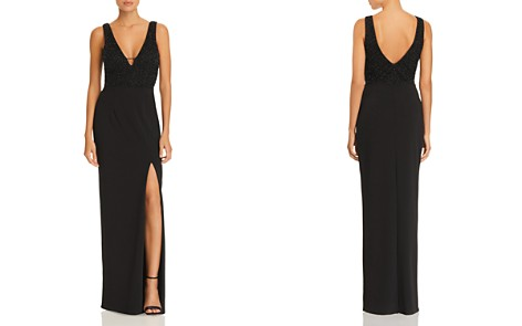 AQUA Beaded Scuba Crepe Gown - 100% Exclusive - Bloomingdale's_2