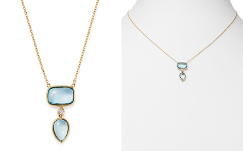 """Olivia B 14K Yellow Gold Tiered Sky Blue Topaz & Diamond Drop Pendant Necklace, 17"""" - 100% Exclusive - Bloomingdale's_2"""