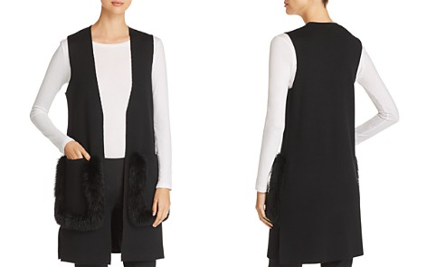 Kobi Halperin Rosena Fur-Trimmed Sweater Vest - Bloomingdale's_2