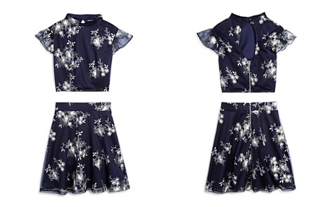 Miss Behave Girls' Diana Floral Embroidered Top & Skirt Set - Big Kid - Bloomingdale's_2