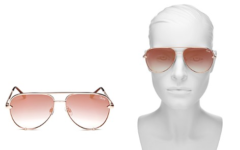 Quay Women's High Key Mirrored Mini Aviator Sunglasses, 53mm - Bloomingdale's_2