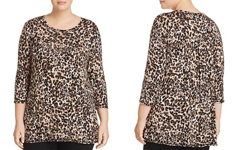 B Collection by Bobeau Curvy Leopard-Print Tunic Tee - Bloomingdale's_2