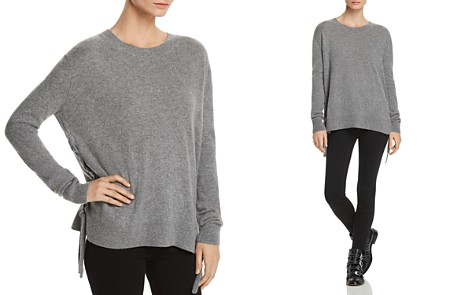 C by Bloomingdale's Lace-Up Cashmere Sweater - 100% Exclusive _2