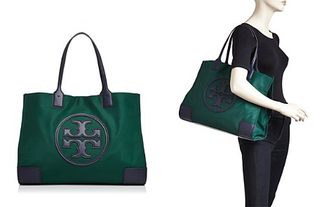 Tory Burch Ella Large Color-Block Nylon & Leather Tote - Bloomingdale's_2