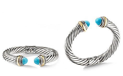 David Yurman Cable Classics Bracelet with Turquoise and 14K Gold, 10mm - Bloomingdale's_2
