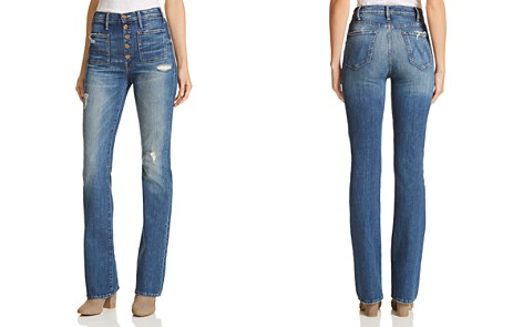 MOTHER The Hustler Patch Pocket Bootcut Jeans in Natural Born Hustler - Bloomingdale's_2