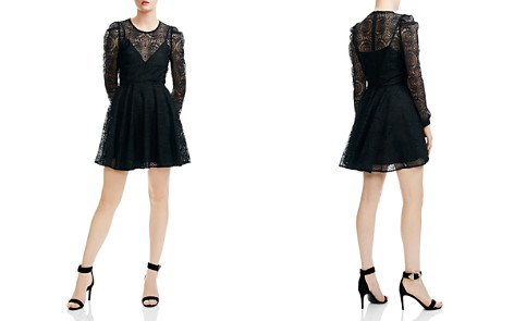 Maje Rizone Lace Fit-and-Flare Silhouette - Bloomingdale's_2