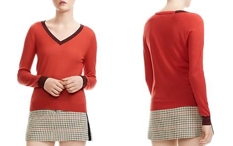 Maje Merino Striped-Trim Sweater - Bloomingdale's_2