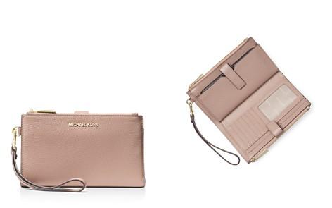 MICHAEL Michael Kors Double Zip Leather Smartphone Wristlet - Bloomingdale's_2