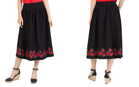 The Kooples Embroidered Midi Skirt - Bloomingdale's_2